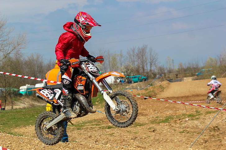 motocross, winner, child, courage