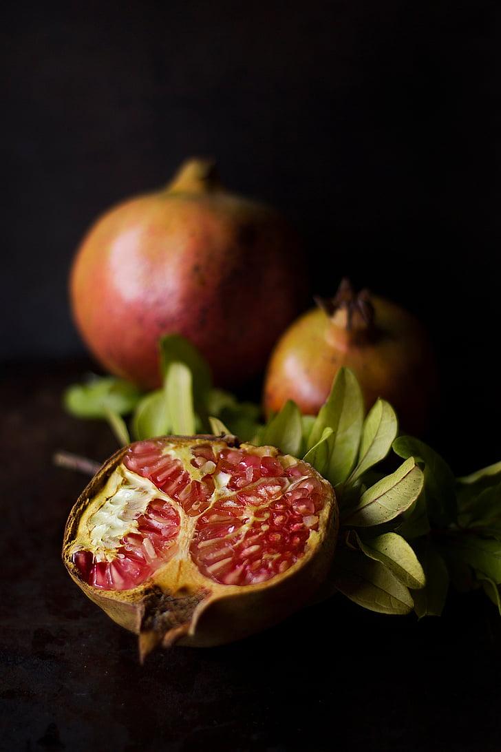 rodanxes, magrana, fruita, aliments, Sa, planta, aliments i begudes