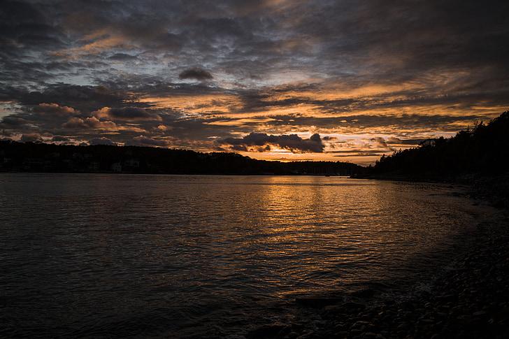 posta de sol, l'aigua, Mar, l'estiu, oceà, fons posta de sol, paisatge