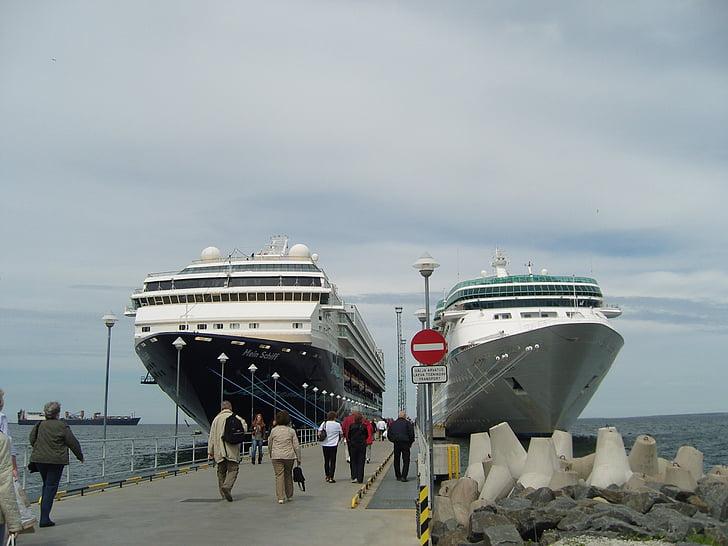 kryssningsfartyg, havet, semester kryssning, ship reser, Östersjön, hamn, mitt skepp