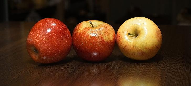 pomes, fruites, vermell, fruita, temporada de fruita, Sa, aliments