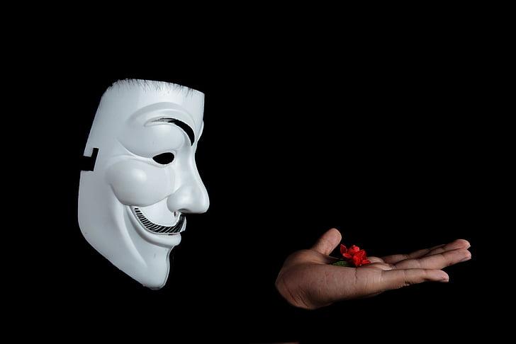 anonymný, Štúdio, obrázok fotografia, pleťová maska