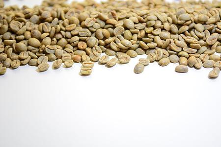 koffie, bonen, koffieboon, hele bean, groene koffie