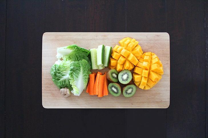 veselīgi, pārtika, svaigu, bioloģiskās lauksaimniecības, augļi, neapstrādāta, vegāns