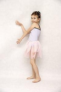 ballet, dance, child
