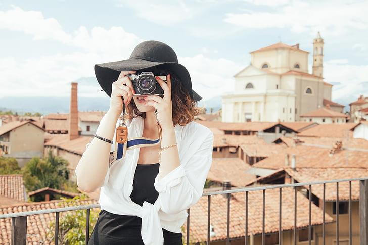 фотограф, туристически, снимка, правене на снимки, правене на снимки, камера, снимка