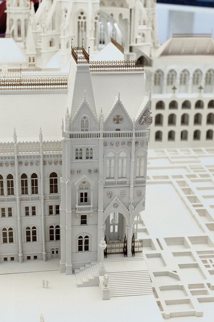 maquette du Parlement hongrois, bâtiment, exposition