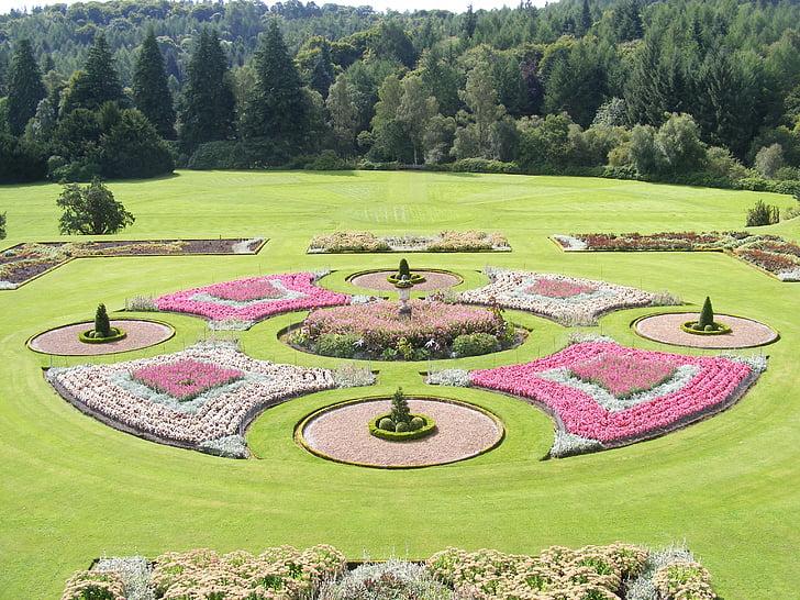 canteiros de flores, jardins, Parque, natureza, plantas, flores, flores