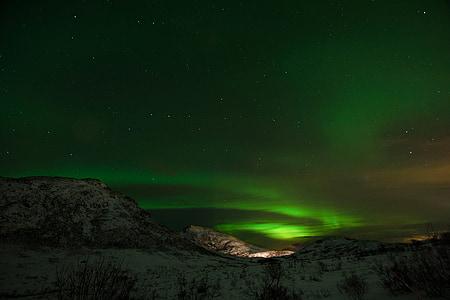 Aurora, nordlys, Borealis, grøn, fænomen, Norge, Swirl