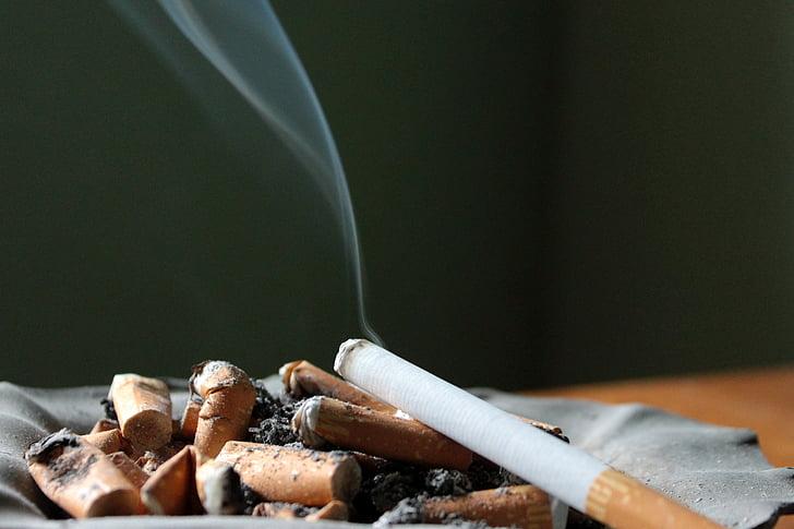 cigarret, Cendrer, cendra, fumar, inclinació, burilles de cigarretes, esborrany