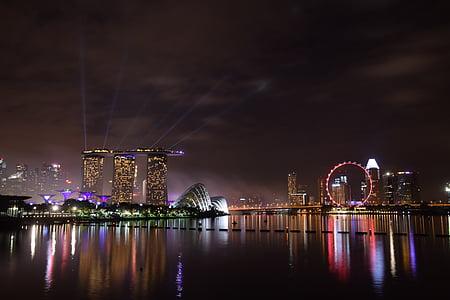 Badia de port esportiu, Singapur, punt de referència, horitzó, passeig marítim