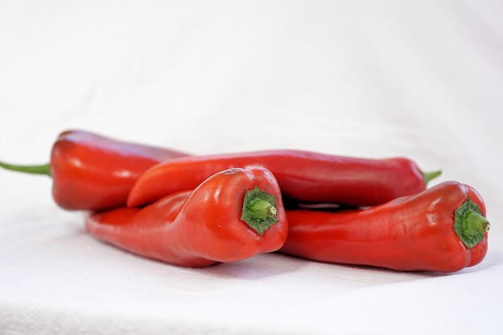 paprika, köögiviljad, toidu, punane, terve, kokk, pipar