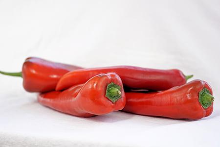 pebre vermell, verdures, aliments, vermell, Sa, cuinar, pebre