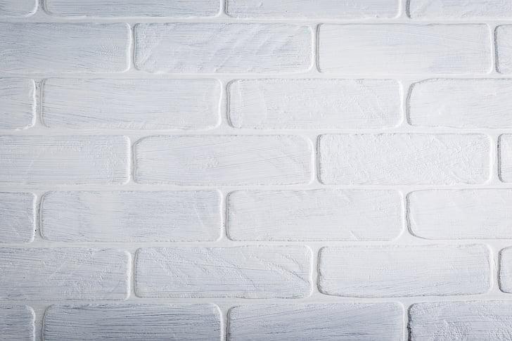 фон, текстура, тухла, стена, работен плот, бяло, боя