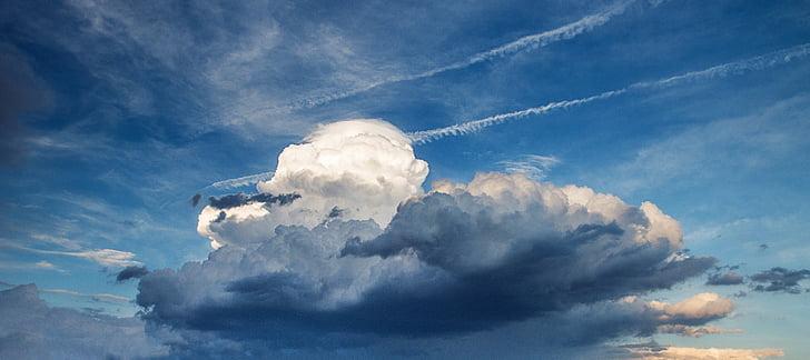 núvols, el cel, tempesta, els núvols, cel, clar, panoràmica