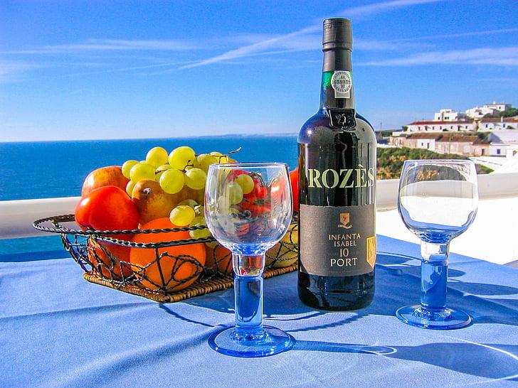 vino, plaža, imati koristi od, Opusti se, Uživajte u, odmor, more