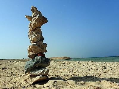 meditation, beach, stones, balance, sea