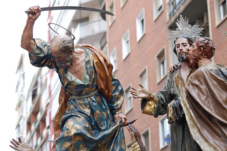 l'agonia al jardí, Jesús, Salzillo, processons de Múrcia, processons, Setmana Santa, processó