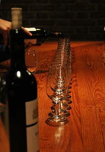 vi, degustació, ulleres, vermell, Malbec, gust, beguda