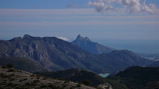 mountains of alicante, landscapes, landscapes of mountains, peace, calm, friendship, sport