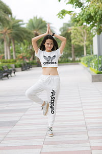 girl, sport, fashion, adidas, fitness, body, outdoor