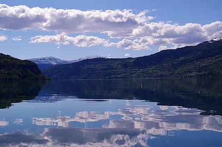 Norge, fjordlandschaft, Hill, natur, landskapet, ferie, Nord