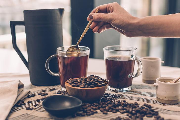 香气, 豆, 饮料, 黑咖啡, 咖啡厅, 咖啡因, 卡布奇诺咖啡