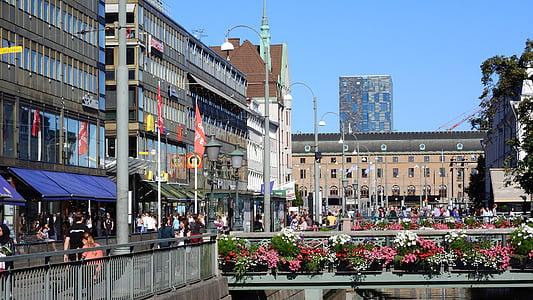 Göteborg, Street, centrum, Sverige, veckodag