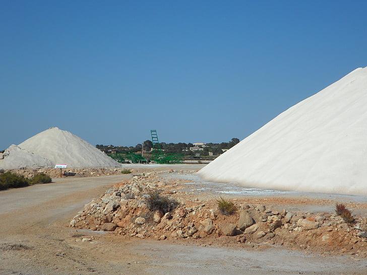 zout, Salzberg, zout berg, wit, zoutpannen, zeezout, industrie