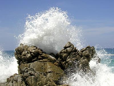 el mar, ona, Roca, Mèxic, Mar, natura, l'aigua