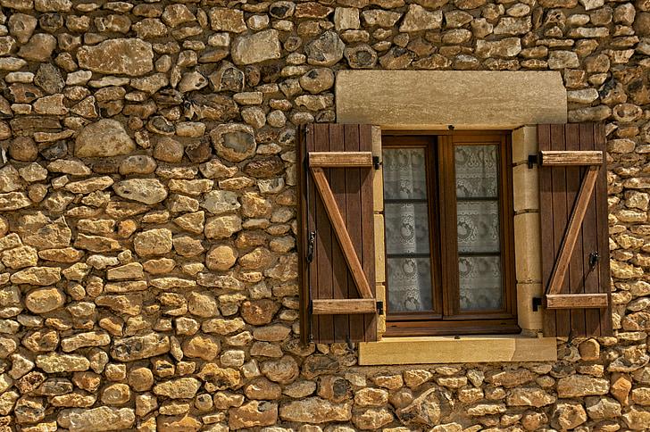 Pháp, Ngôi Nhà, Đá, Cửa Sổ, Cửa Chớp, Đá, Kiến