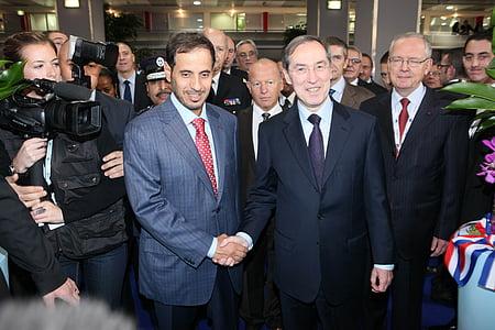 milipol claude gueant, politicians, abdullah bin, khalifa al thani, guéant, qatar, paris
