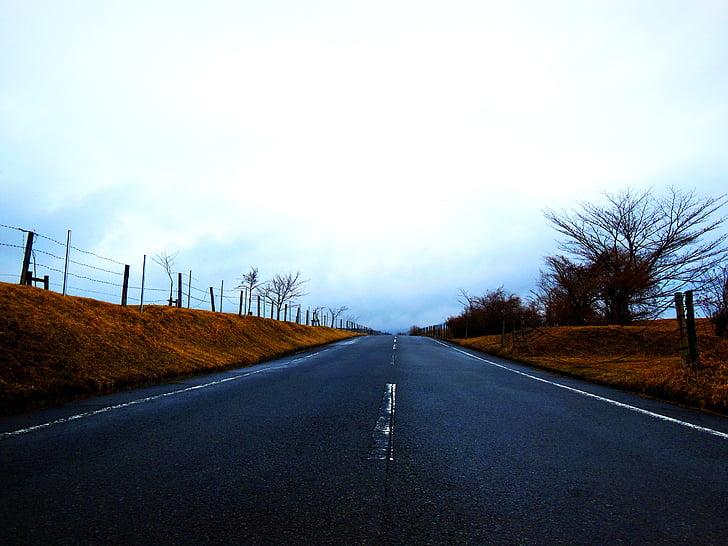 carretera, Nuvolositat, fosc, paisatge, repte, Centre