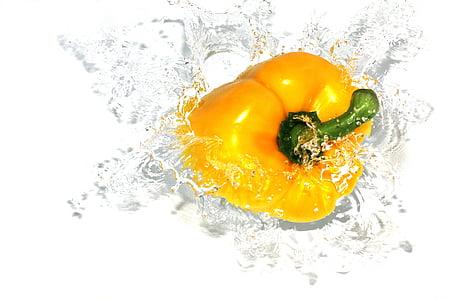 paprika, toidu, pipar, Splash, taimne, vee, veepritsmed