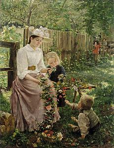 ภาพวาดสีน้ำมัน, แม่, เด็ก, ivana kobilca, 1890, ภาพวาด, ศิลปะ