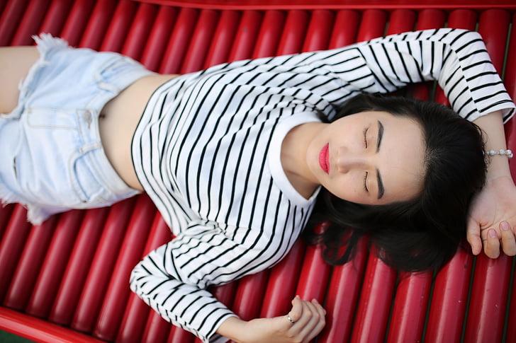 noia, model de, noia adolescent, vietnamites, jove, dona