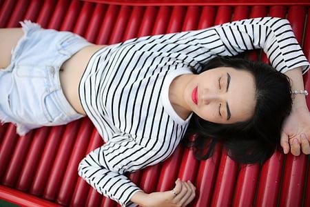girl, model, teen girl, vietnamese, young, woman