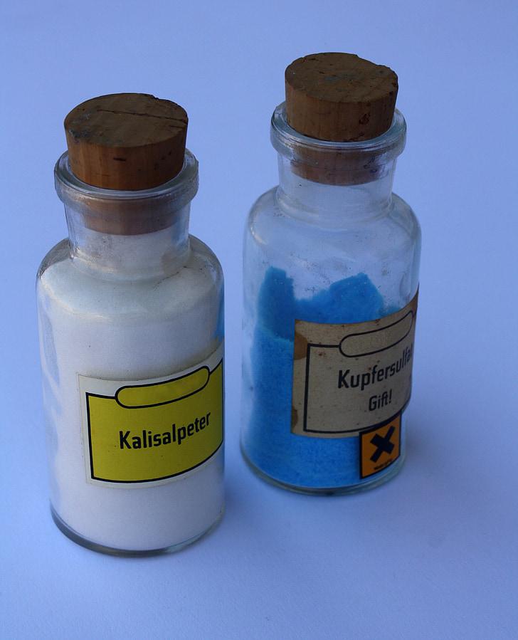 Química, Laboratori, tòxics, vidre, Sulfat de coure, experimentar, ensenyament