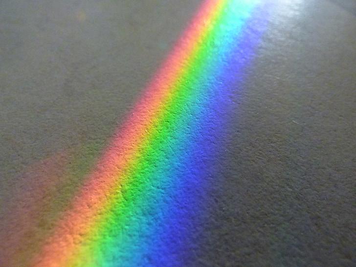 дъга, цветови спектър, слънчево, огледало, Отразявайки, красиво, етаж