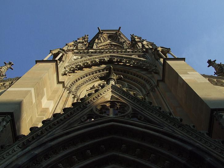 church, church tower, st john's church, church facade