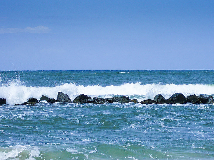 mar, Océano, las olas, agua, azul, el mar Báltico, ondas