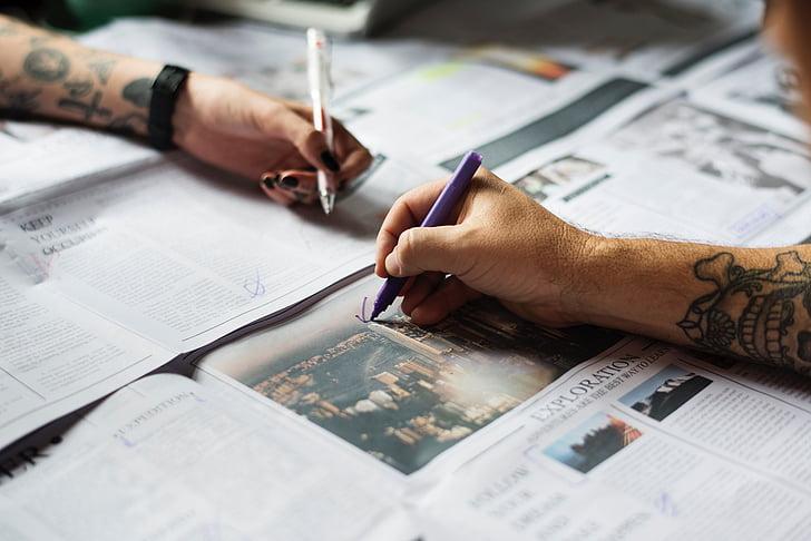 diari, document, material, informació, articles, ploma, Oficina