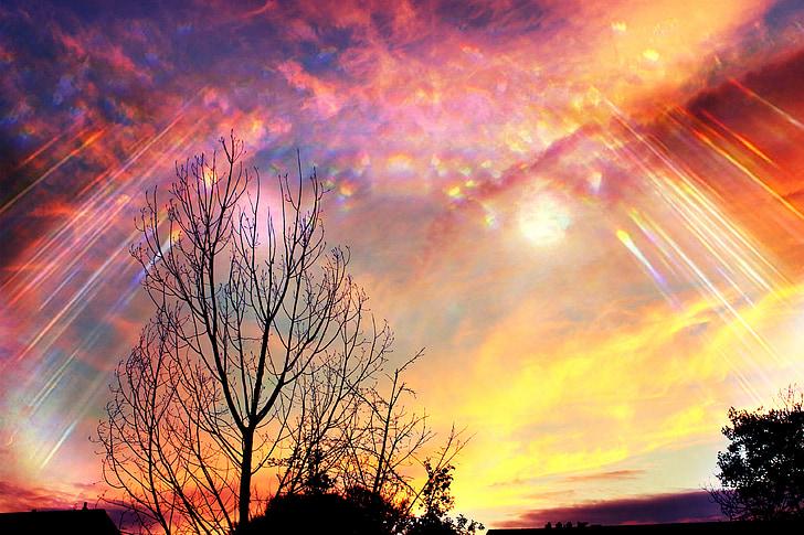 bầu trời, thần thánh, Aurora, ánh sáng, tinh thần, Đức tin, ánh sáng mặt trời