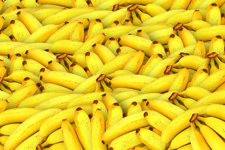 банани, фрукти, жовтий, здоровий, свіжі фрукти, Тропічна, органічні