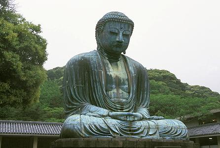 gran buddha, Kōtoku-in temple, Kamakura, Japó, Estàtua de bronze monumental, escultura, bronze