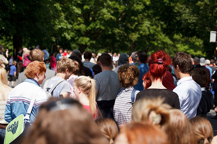 multitud, concorregut, esdeveniment, Festival, grup, caps, molts
