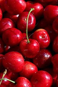 cseresznye, gyümölcs, gyümölcsök, természet, vitaminok, vadcseresznye, élelmiszer