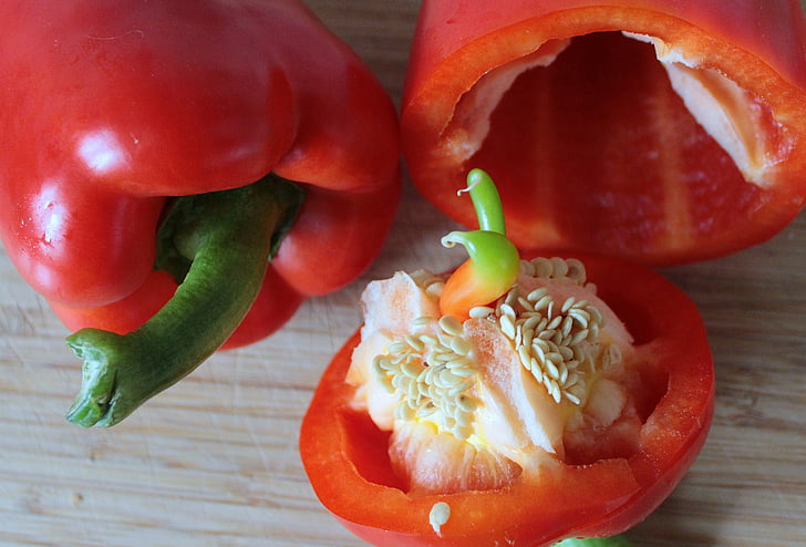 paprika, paprika, köögiviljad, toidu, terve, punane pipar, rikas vitamiinide