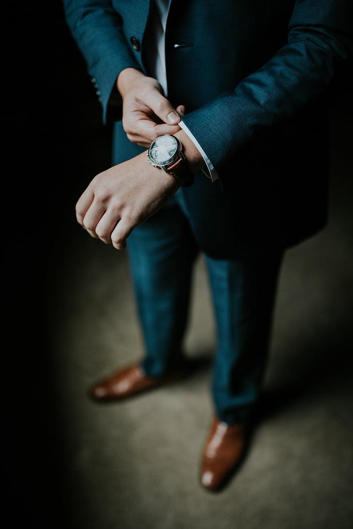 man, black, formal, suit, brown, dress, shoes