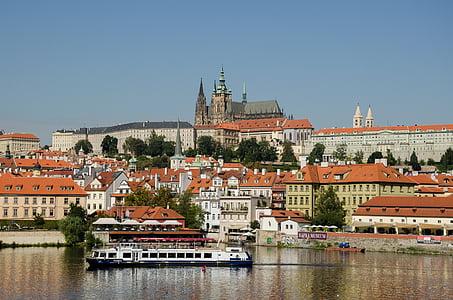 Praha, Europa, Moldova, Tsjekkia, historisk, byen, elven